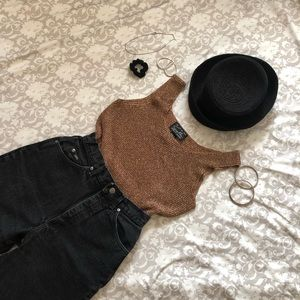 AMAZING ROSE GOLD KNIT TOP